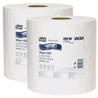 Paper Products Combi A - T Rolls x 2 Pack Paper Hand Towels 2 Ply