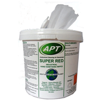 Super Red - Boxed Hand Cleaner & Surface Cleaning Wipers 4 x 150 Wipes
